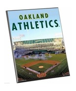 "MLB Oakland A's Athletics Stadium Premium 8"" x 10"" Solid Wood Easel Sign - $9.95"