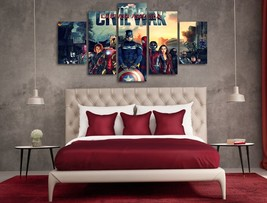 5 Pcs With Framed Printed captain america civil war Painting Ready to Ha... - $99.99