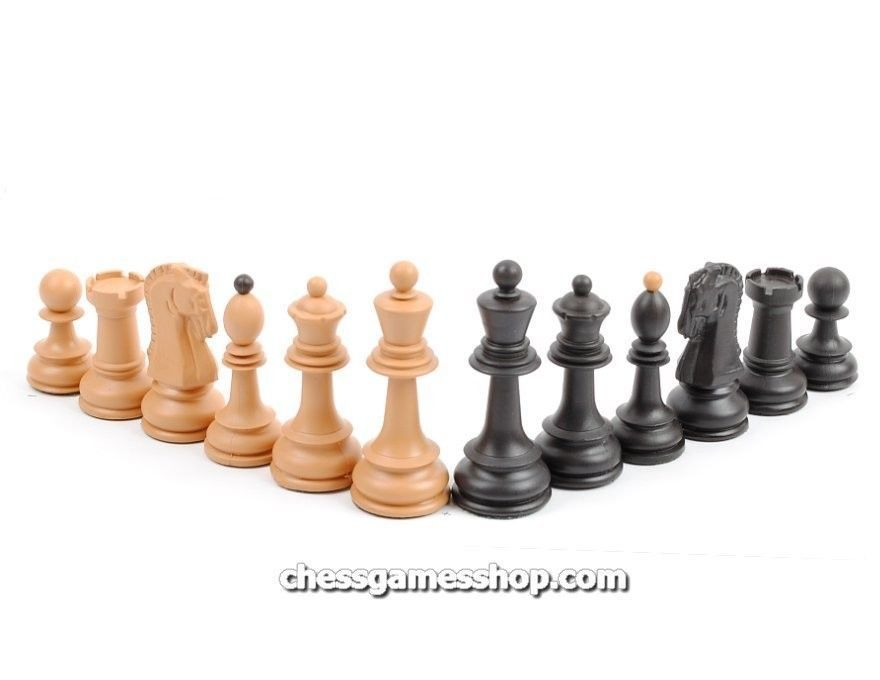 "Dubrovnik Plastic (wood imitation) chess pieces-Standard size,unweighted-3,5"" KH for sale  USA"