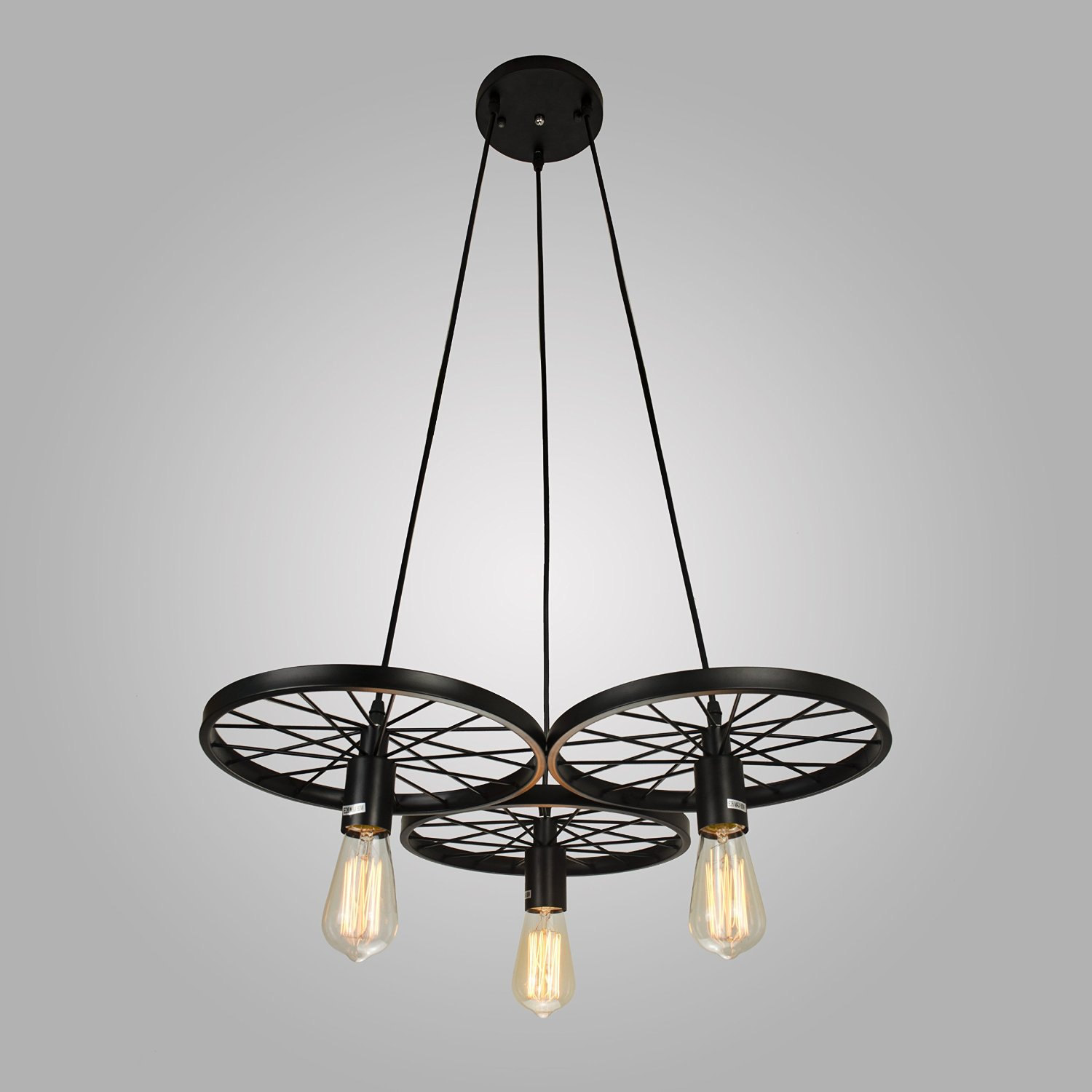 Industrial style pendant light 3 edison bulbs chandelier Industrial style chandeliers