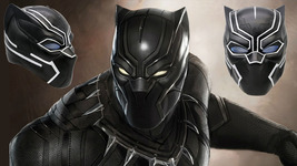 XCOSER Black Panther with LED Light Mask New Move Civil War Helmet in 2016 - $130.34 CAD