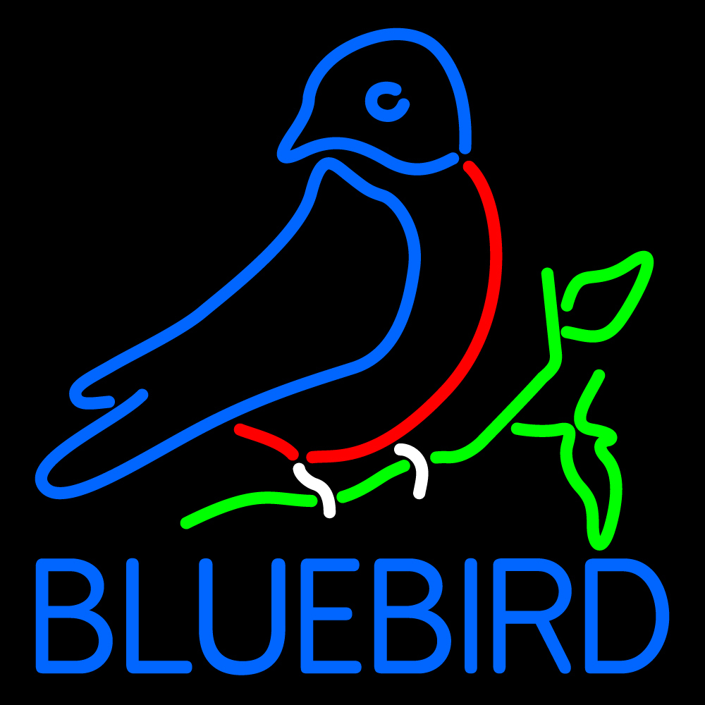 "Bluebird Neon Sign 16"" x 16"" image 1"