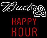 Bud 29 happy hour neon sign 16  x 16  thumb155 crop