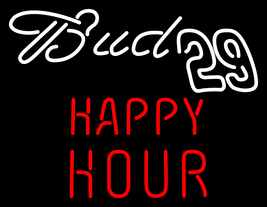 "Bud 29 Happy Hour Neon Sign 16"" x 16"" - $699.00"