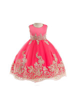 Princess Dress Girls Clothes Kids Wedding Party Clohing 3-8 Years Red  - $22.00+