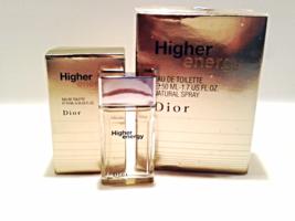 Dior Higher Energy Eau De Toilette Natural Spray 1.7oz Extra Gift 10ml F... - $54.66
