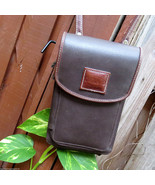 Leather Outland Rugged Terrain Brown Crossbody Travel Tote Bag Wallet Cl... - $22.88