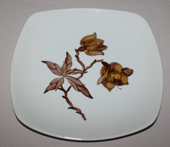 Orchard Ware Magnolia Dinner Plate Brown Flower... - $5.50