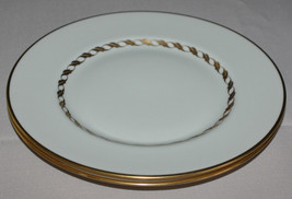 2 Salad Plates Franciscan California Del Monte Ivory Gold Rope Braid Trim - $6.44