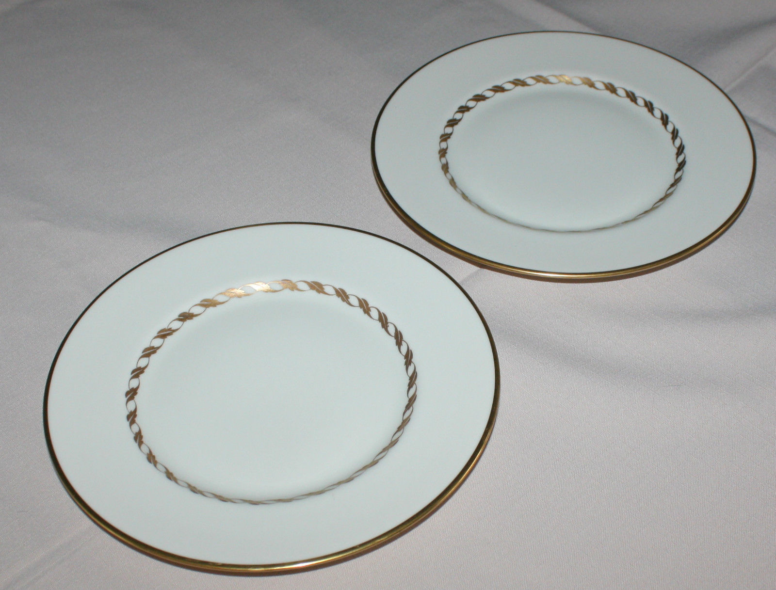 2 Salad Plates Franciscan California Del Monte Ivory Gold Rope Braid Trim
