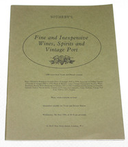 Sotheby's Catalogue Fine & Inexpensive Wines Spirits & Vintage Port - 9 ... - $8.99