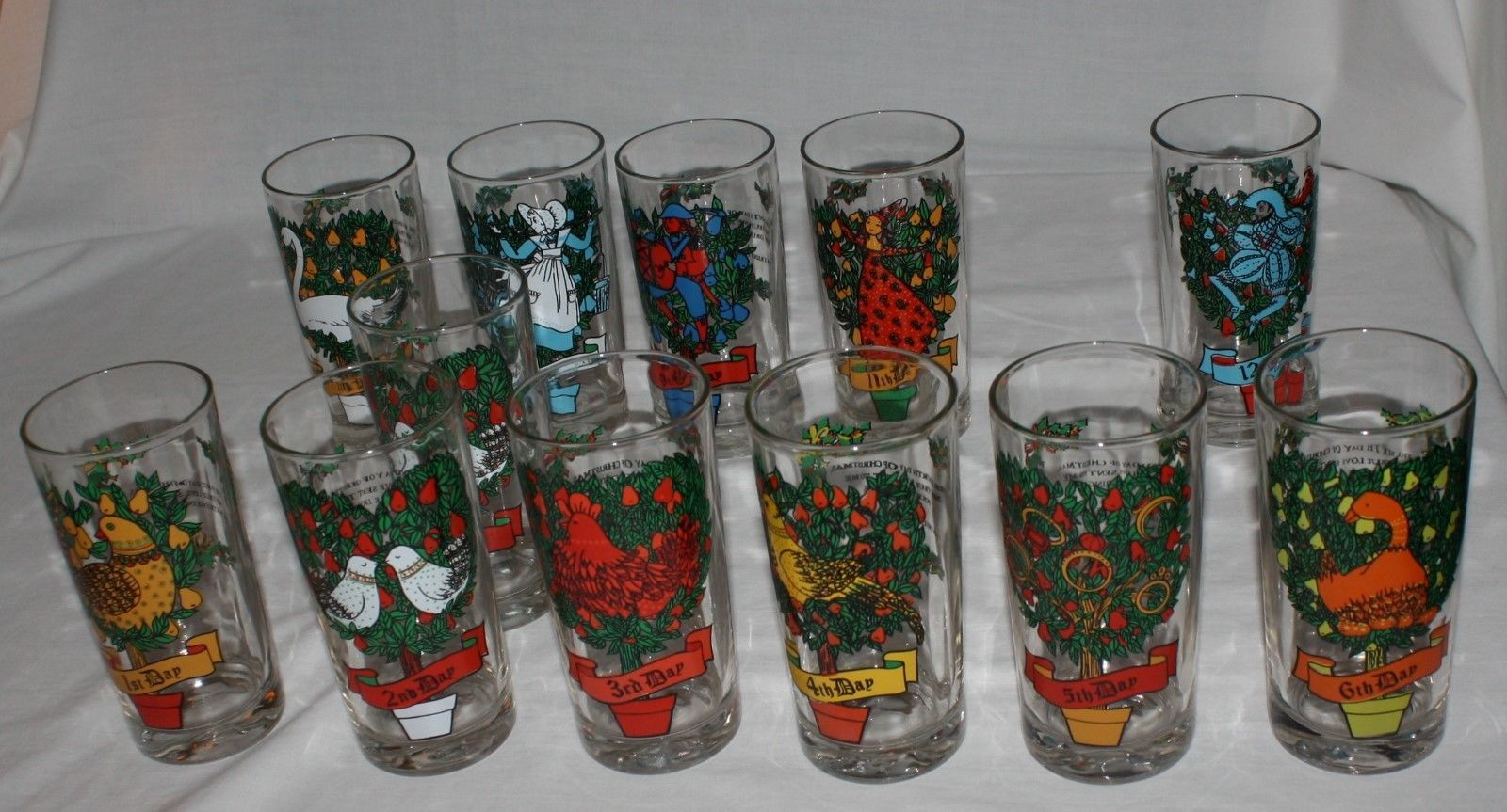 12 days of christmas glasses tumblers replacements 5 12 12 oz you choose
