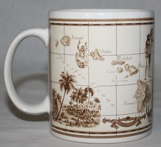 Island Heritage Mug Hawaii Pacific Map Hawaiian Palm Trees - $21.50