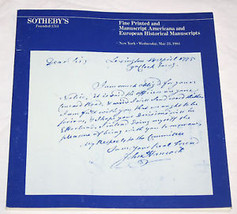 Sothebys Catalogue Printed Manuscript Americana European History 1984 - $13.85