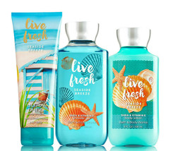 Bath & Body Works Live Fresh - Seaside Breeze Trinity Gift Set - $40.95
