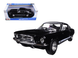 1967 Ford Mustang GTA Fastback Black 1/18 Diecast Model Car by Maisto - $59.95