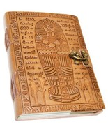 """King Tut style 5"""" x 7"""" Egyptian Embossed leather w/ latch 100 pages - $20.00"""