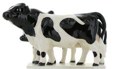 Hagen Renaker Miniature Holstein Bull, Cow and Calf Ceramic 3 Piece Figurine Set image 5
