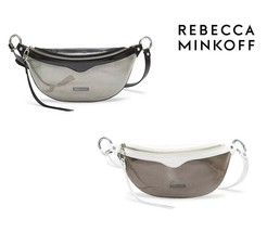 NWT REBECCA MINKOFF Bree Belt Bag Fanny Packs Smoke Clear Black White SS... - $82.00