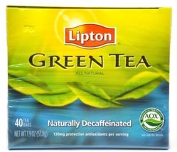 Lipton Green Tea, Naturally Decaffeinated, Tea Bags, 40 Ct Boxes (Pack o... - $29.85