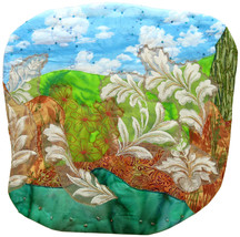Blowing in the Wind: Quilted Art Wall Hanging - $430.00