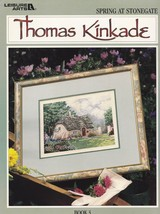 Thomas Kinkade's Spring at Stonegate, Leisure Arts Cross Stitch Pattern ... - $4.95