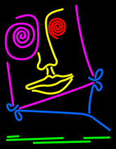 "Face Neon Sign 16"" x 16"" - $699.00"