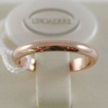 SOLID 18K ROSE GOLD WEDDING BAND UNOAERRE RING 4 GRAMS MARRIAGE MADE IN ITALY