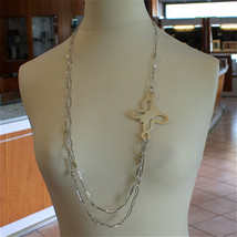 925 SILVER NECKLACE WITH MULTIFACETED BALLS AND BUTTERFLY, MADE IN ITALY... - $228.00