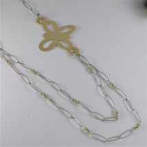 925 SILVER NECKLACE WITH MULTIFACETED BALLS AND BUTTERFLY image 3