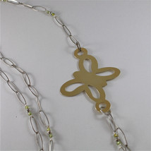 925 SILVER NECKLACE WITH MULTIFACETED BALLS AND BUTTERFLY image 6