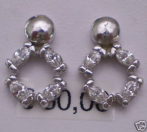 Earrings in Silver and Crystals shuttles