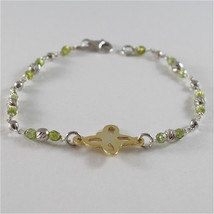 925 SILVER BRACELET WITH MULTIFACETED BALLS AND BUTTERFLY image 2