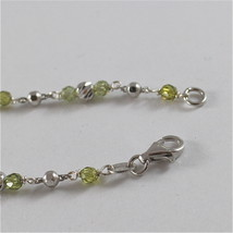 925 SILVER BRACELET WITH MULTIFACETED BALLS AND BUTTERFLY image 4