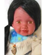 Vinyl doll Brown skin dark hair baby doll Numbered on Neck - $60.00