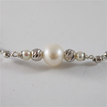 925 SILVER NECKLACE WITH 8 MM ROUND FW PEARL AND FACETED BALLS image 3