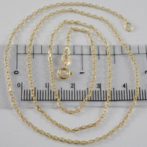 18 K Yellow Gold Mini 1.5 Mm Diamond Cut Cable Chain 15.75 Inches Made In Italy - $262.20