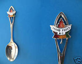 GRAND FORKS BC. Souvenir Collector Spoon Collectible Canada Maple Leaf E... - $4.95