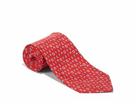 SALVATORE FERRAGAMO Men's Red Buoy and LifeSaver Red 100% Silk Neck Tie ... - $158.95