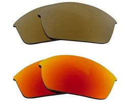 New Seek Replacement Lenses Oakley Flak Jacket Asian Fit Polarized Gold Yellow - $33.15