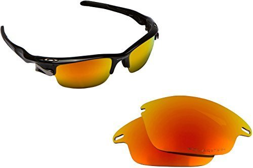 New SEEK OPTICS Replacement Lenses Oakley FAST JACKET - Polarized Red