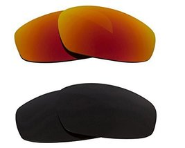 New SEEK OPTICS Replacement Lenses Oakley WIND JACKET - Black Red - $23.25