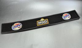 Miller Genuine Draft Lite Black Rubber Bar Drink Spill Mat Pad - $25.00
