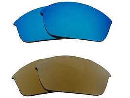 New SEEK OPTICS Replacement Lenses Oakley FLAK JACKET - Gold Blue - $23.25