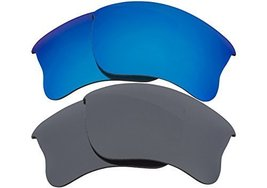 New Seek Replacement Lenses Oakley Half Jacket 2.0 Xl Polarized Black Blue - $33.15