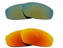 New Seek Replacement Lenses Oakley Wind Jacket Polarized Yellow Green - $33.15