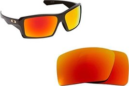 New SEEK Replacement Lenses Oakley EYEPATCH 1 - Polarized Fire Red Mirror - $18.30