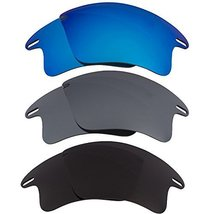 New Seek Replacement Lenses Oakley Fast Jacket Xl Black Blue Silver - $33.64