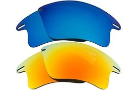 New Seek Replacement Lenses Oakley Fast Jacket Xl   Blue Yellow - $23.25
