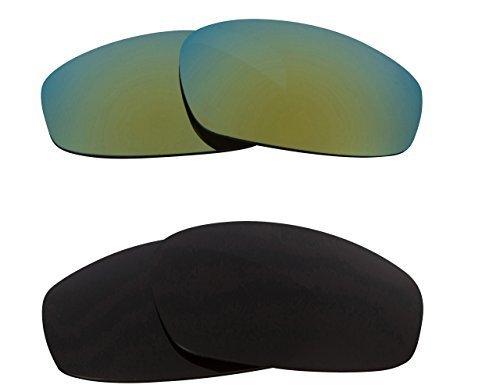 New SEEK OPTICS Replacement Lenses Oakley WIND JACKET - Black Green - $23.25